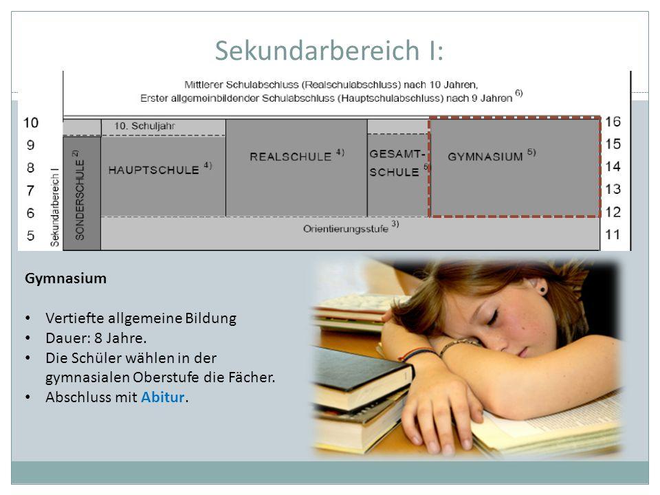 Sekundarbereich I: Gymnasium Vertiefte allgemeine Bildung