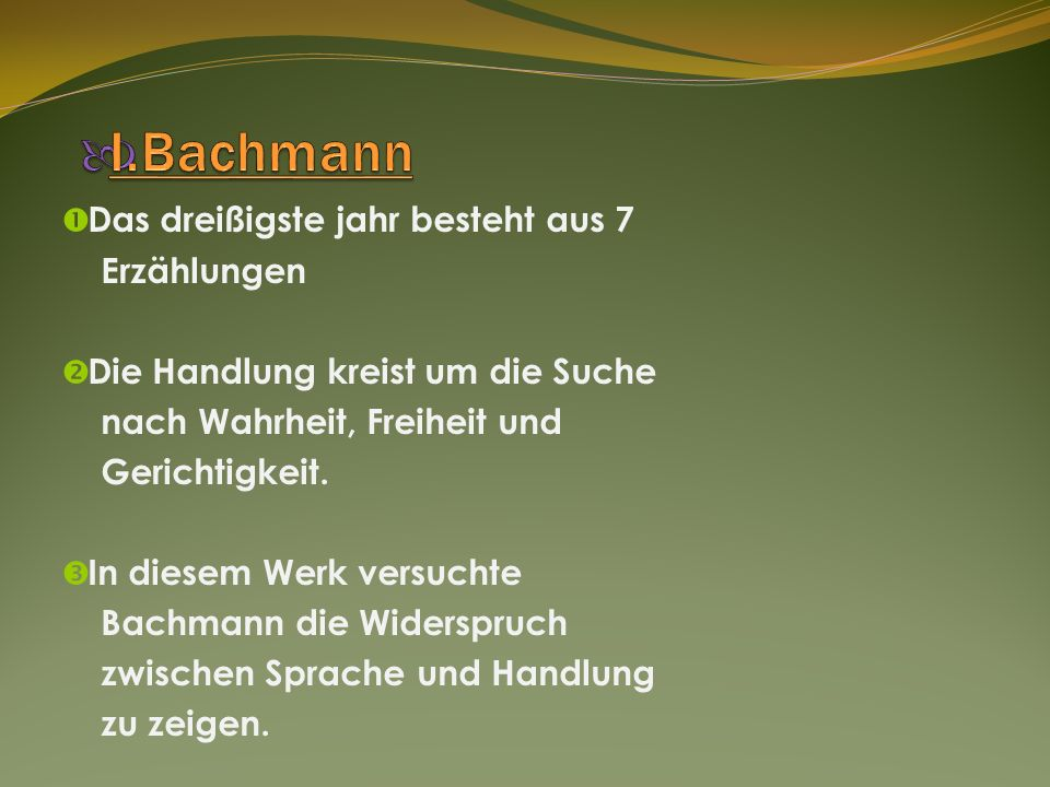 I.Bachmann Das dreißigste jahr besteht aus 7 Erzählungen