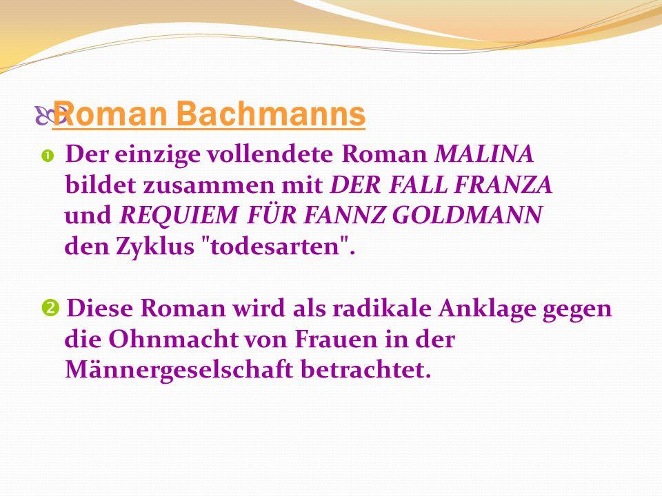 Roman Bachmanns bildet zusammen mit DER FALL FRANZA