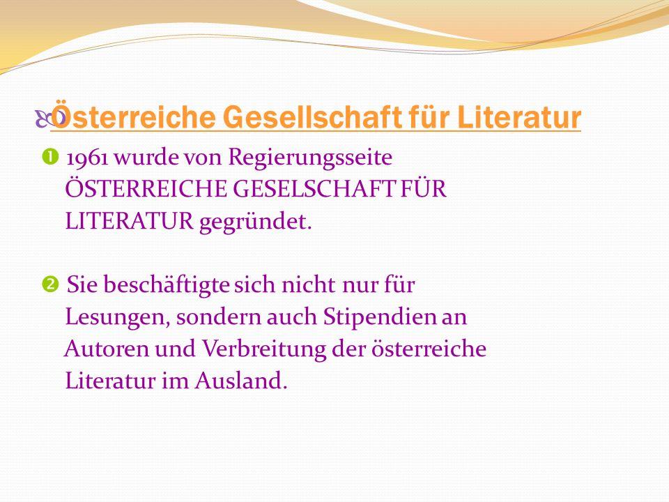 Österreiche Gesellschaft für Literatur