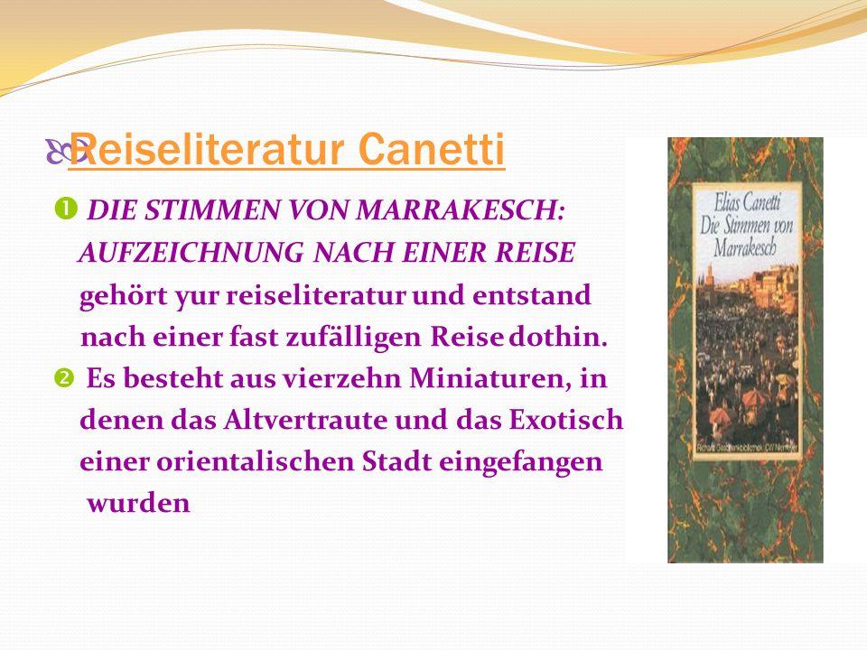 Reiseliteratur Canetti