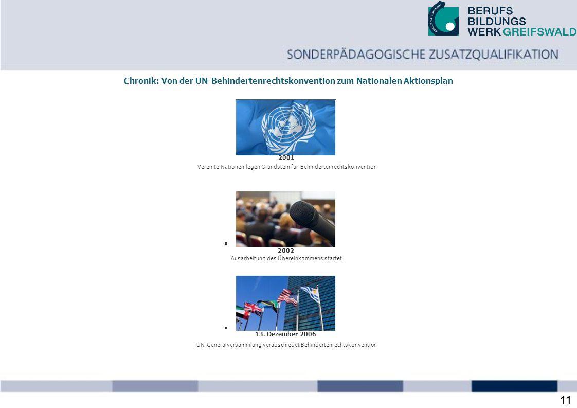 28.03.2017 Chronik: Von der UN-Behindertenrechtskonvention zum Nationalen Aktionsplan. 2001.