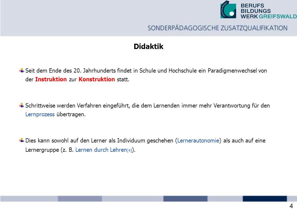28.03.2017 Didaktik. Seit dem Ende des 20. Jahrhunderts findet in Schule und Hochschule ein Paradigmenwechsel von.