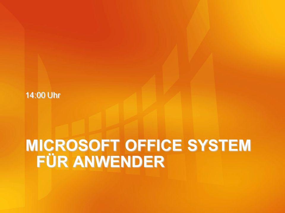 MICROSOFT OFFICE SYSTEM FÜR ANWENDER