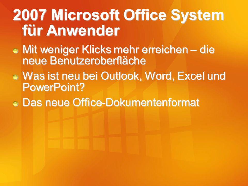 2007 Microsoft Office System für Anwender