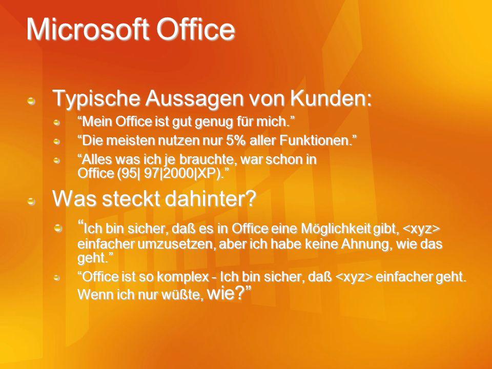 Microsoft Office Typische Aussagen von Kunden: Was steckt dahinter