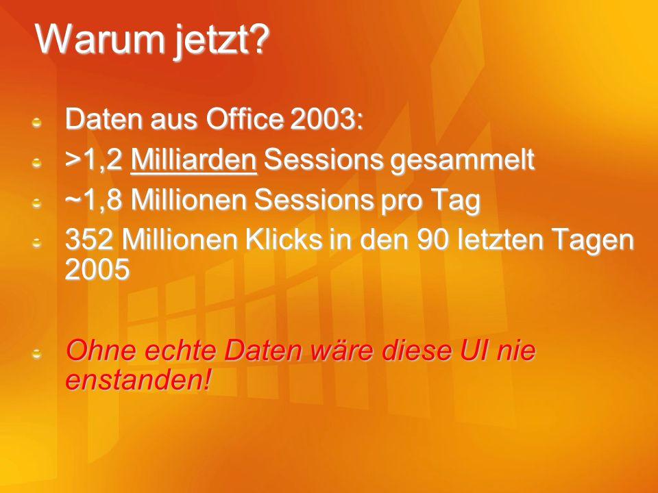 Warum jetzt Daten aus Office 2003: