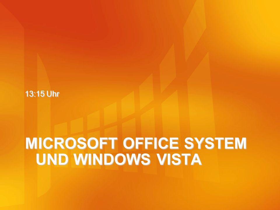 MICROSOFT OFFICE SYSTEM UND WINDOWS VISTA