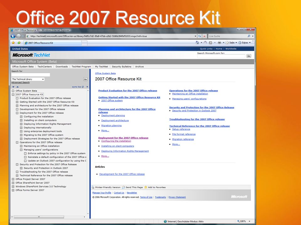 Office 2007 Resource Kit