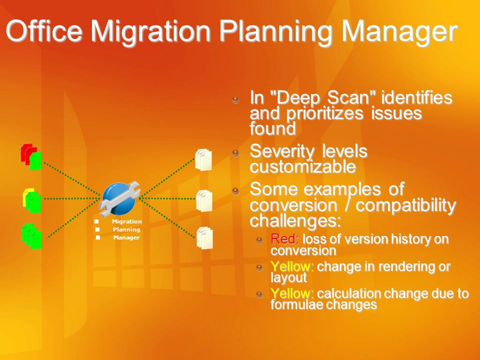 Office Migration Planning Manager