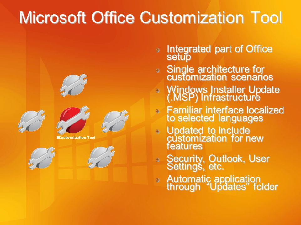 Microsoft Office Customization Tool