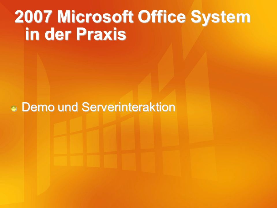 2007 Microsoft Office System in der Praxis