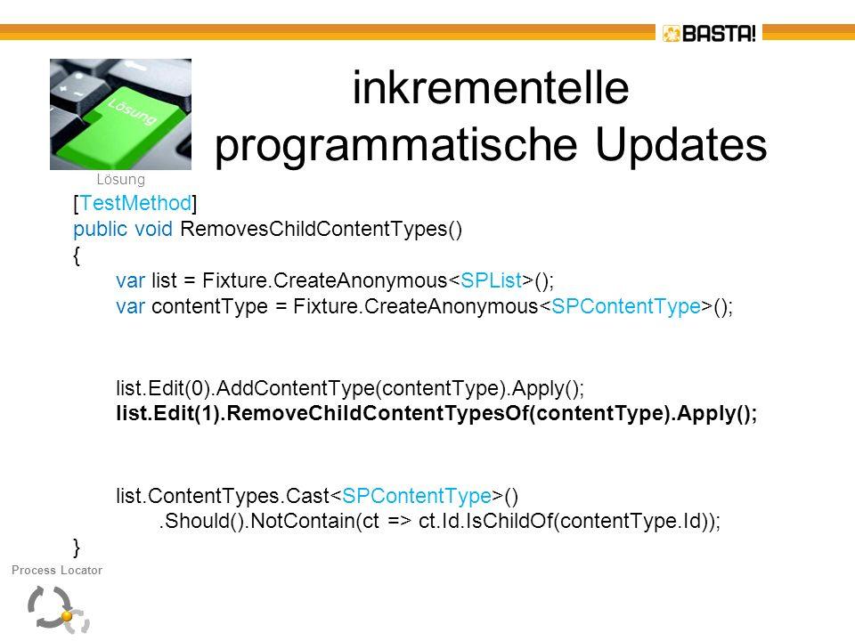 inkrementelle programmatische Updates