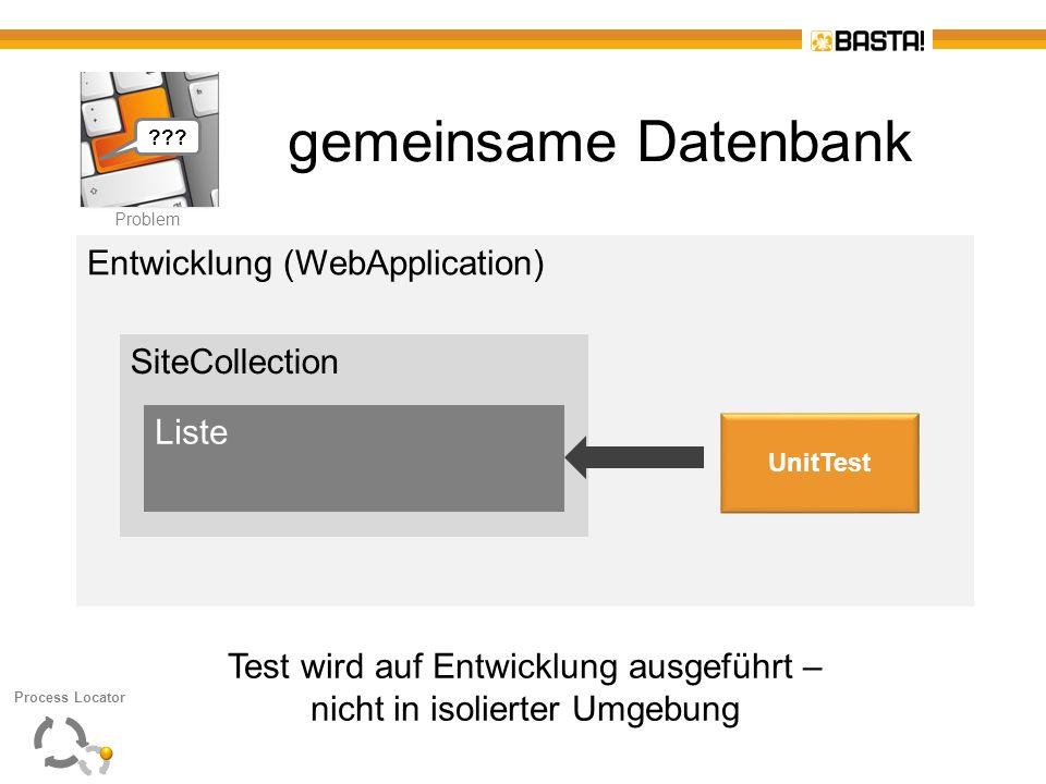 gemeinsame Datenbank Entwicklung (WebApplication) SiteCollection Liste