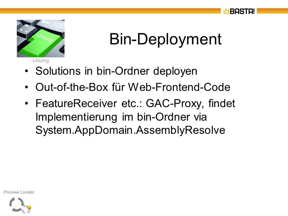 Bin-Deployment Solutions in bin-Ordner deployen