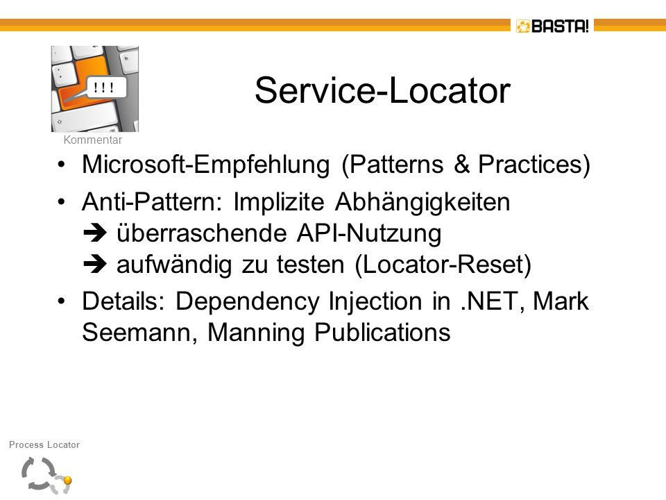 Service-Locator Microsoft-Empfehlung (Patterns & Practices)