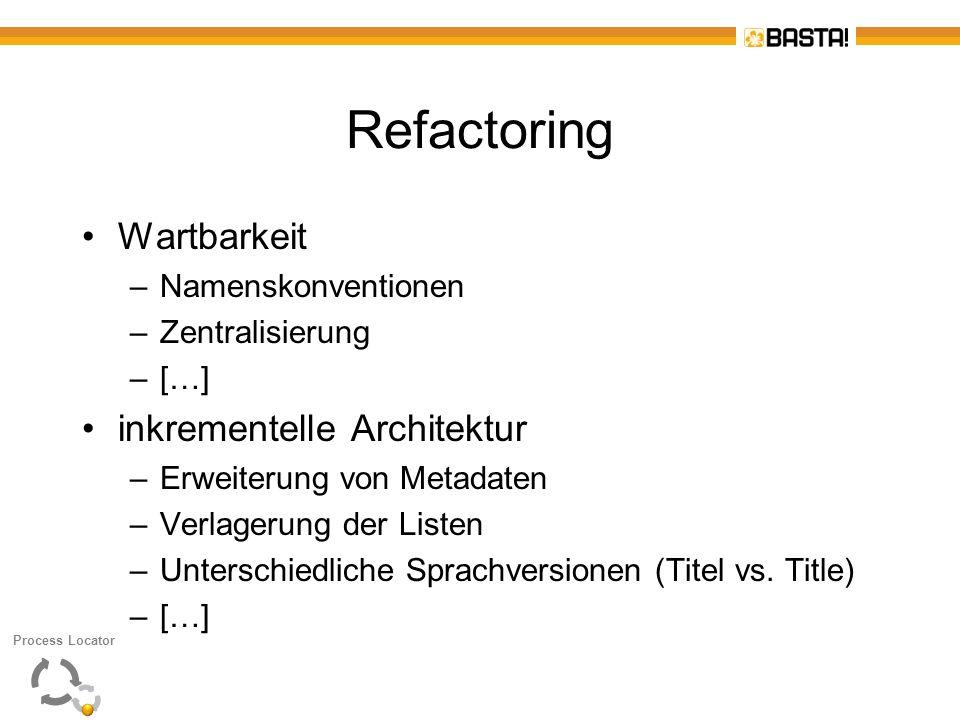 Refactoring Wartbarkeit inkrementelle Architektur Namenskonventionen