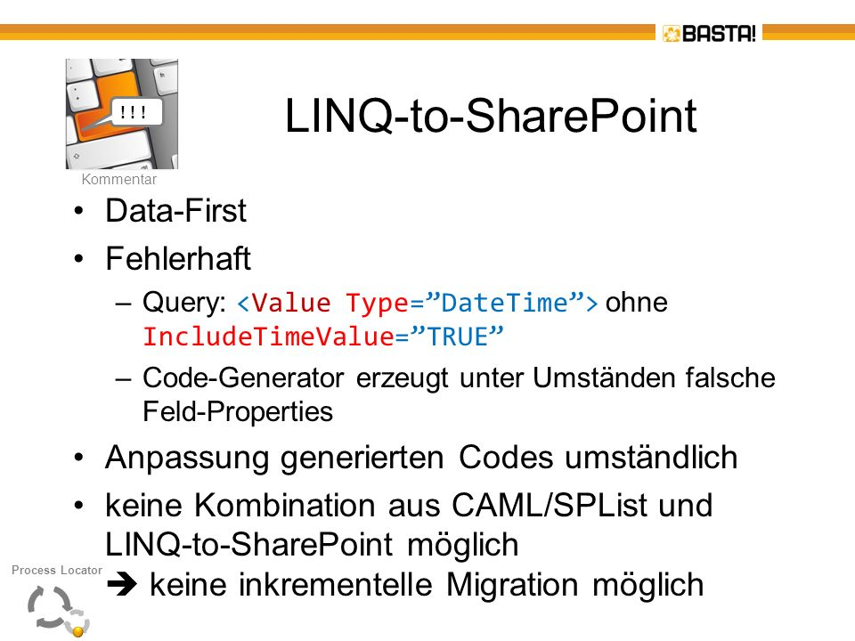 LINQ-to-SharePoint Data-First Fehlerhaft