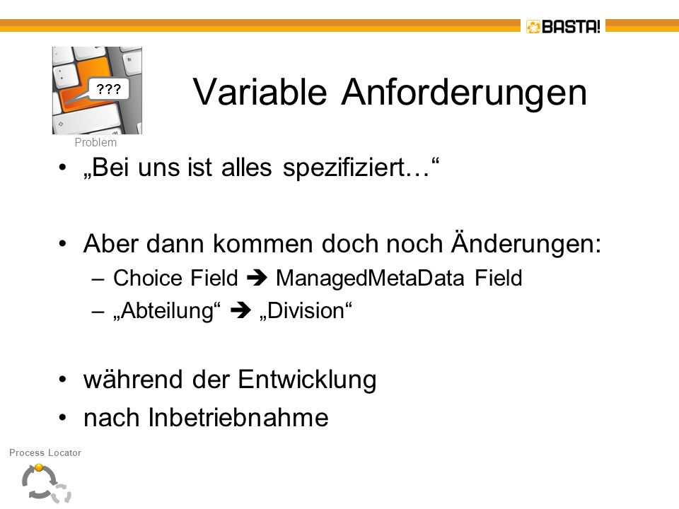 Variable Anforderungen