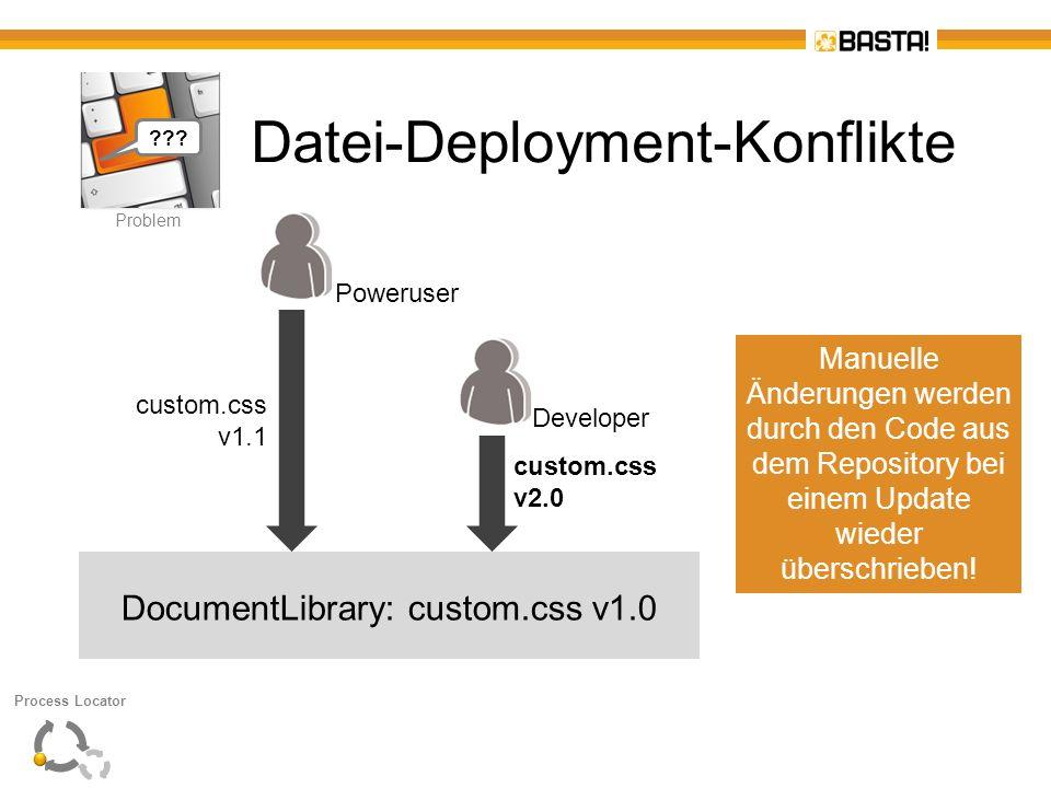 Datei-Deployment-Konflikte