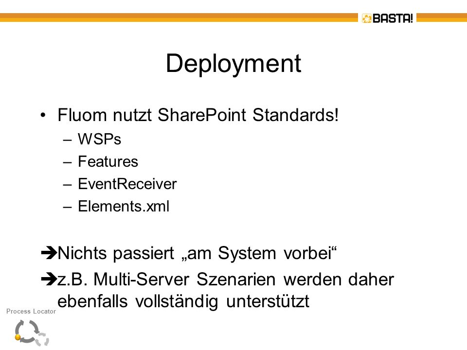 Deployment Fluom nutzt SharePoint Standards!