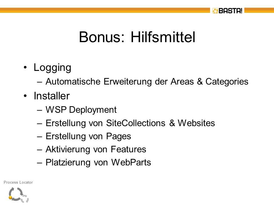 Bonus: Hilfsmittel Logging Installer