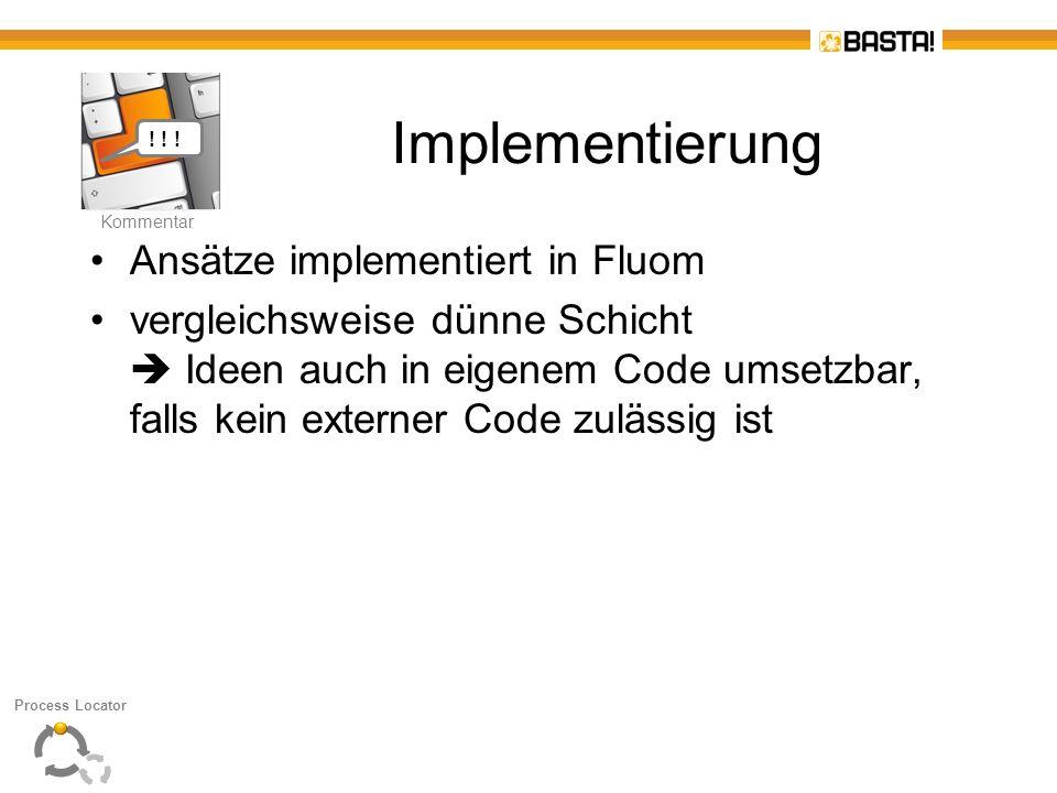 Implementierung Ansätze implementiert in Fluom