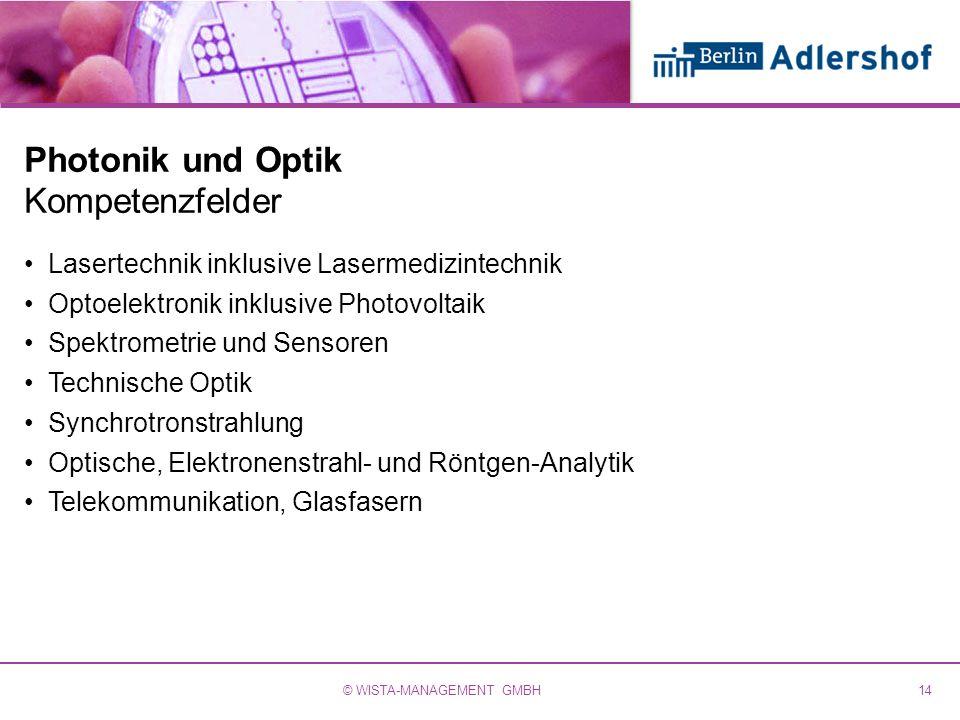 Photonik und Optik Kompetenzfelder