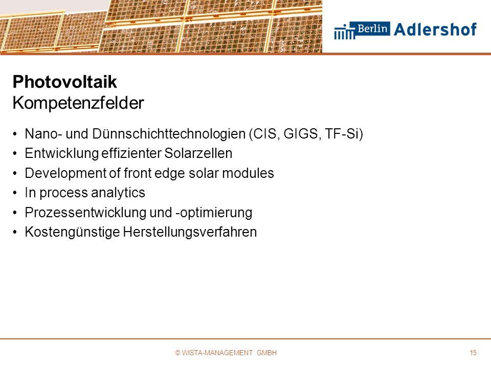 Photovoltaik Kompetenzfelder