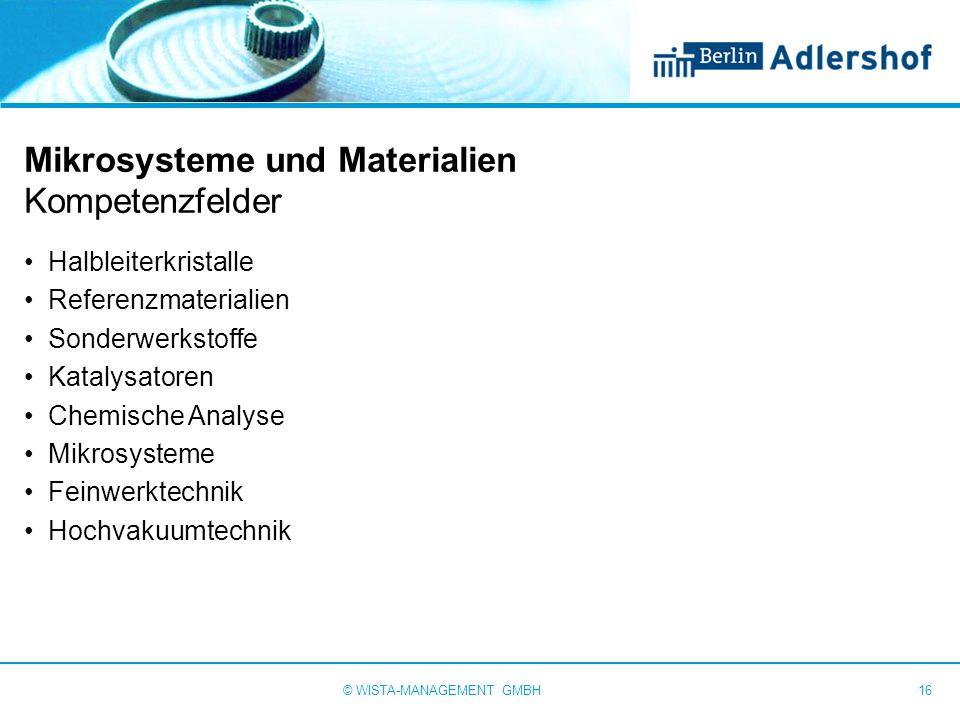 Mikrosysteme und Materialien Kompetenzfelder