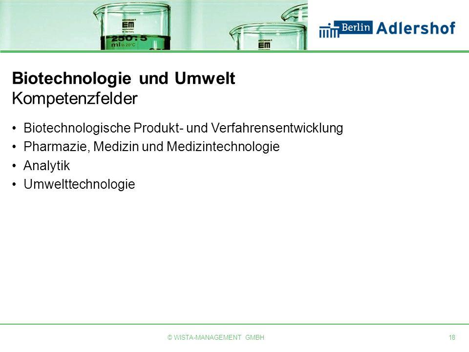 Biotechnologie und Umwelt Kompetenzfelder