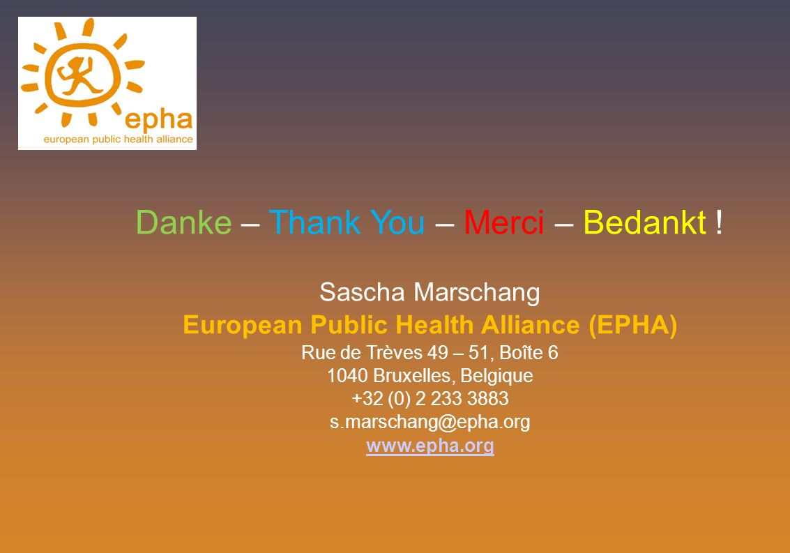 European Public Health Alliance (EPHA)