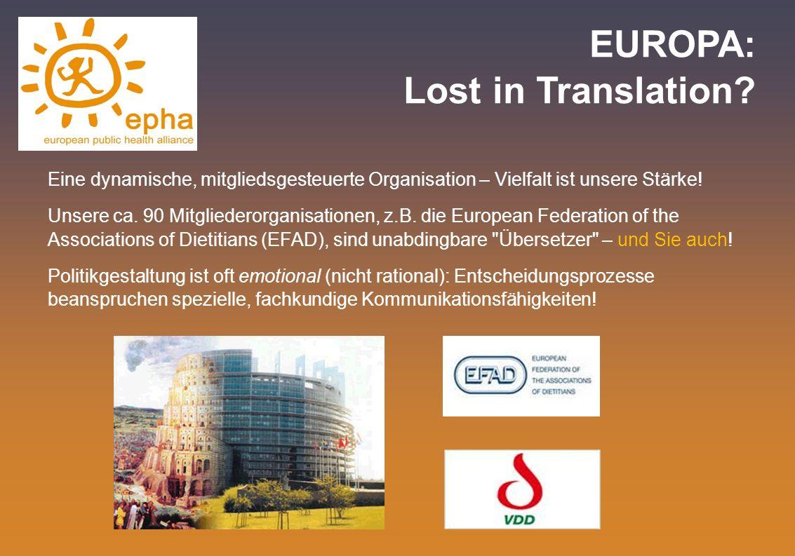 EUROPA: Lost in Translation