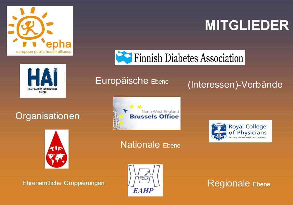 MITGLIEDER Europäische Ebene (Interessen)-Verbände Organisationen