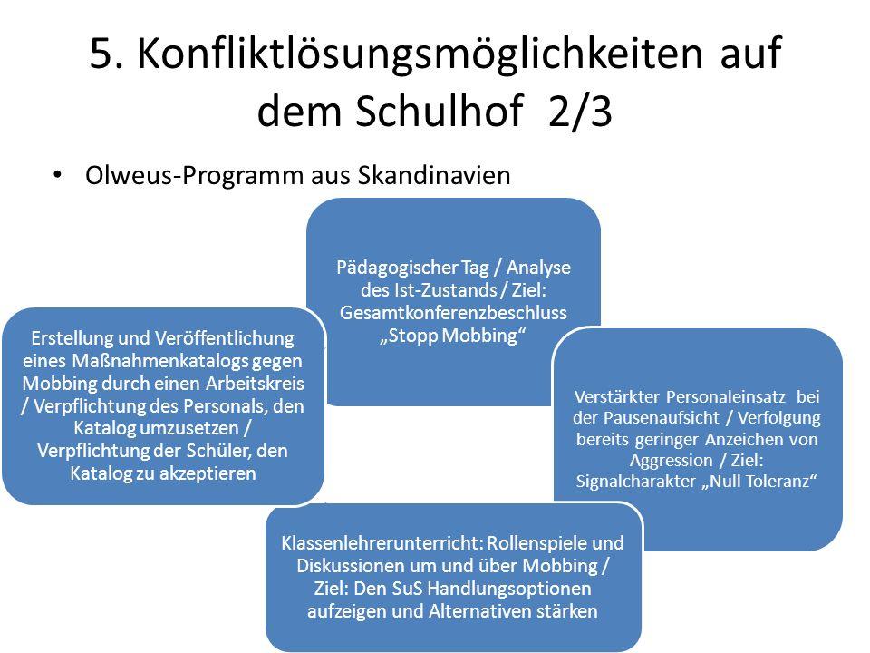 5. Konfliktlösungsmöglichkeiten auf dem Schulhof 2/3