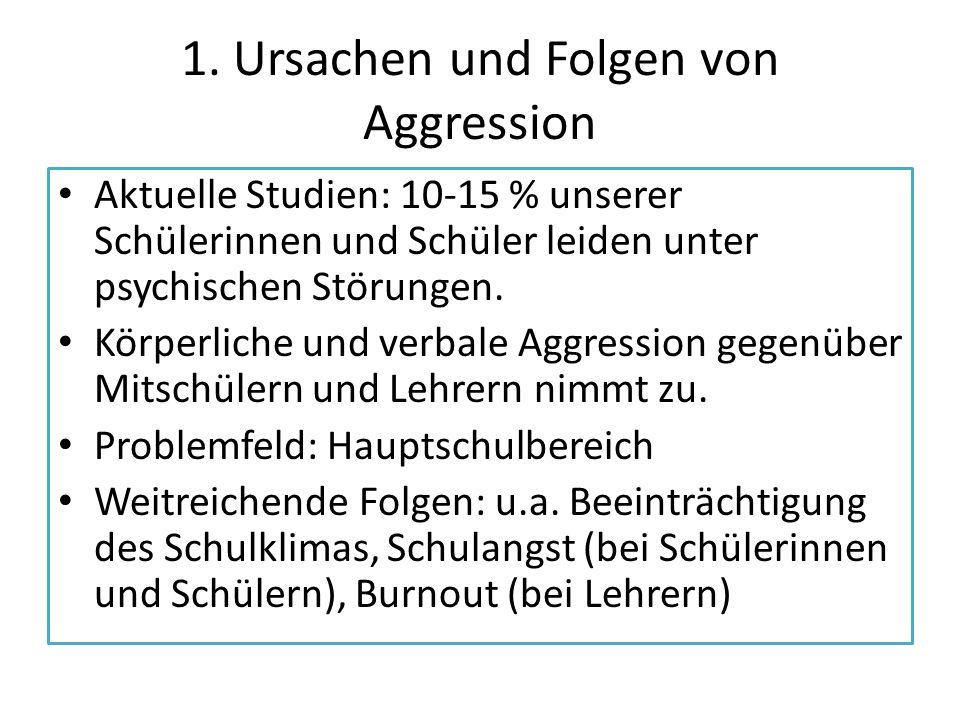 1. Ursachen und Folgen von Aggression