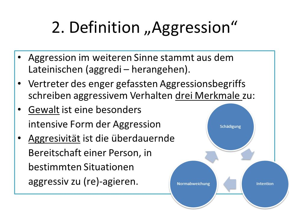 "2. Definition ""Aggression"