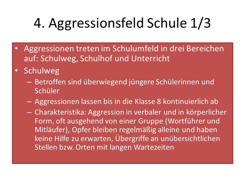 4. Aggressionsfeld Schule 1/3