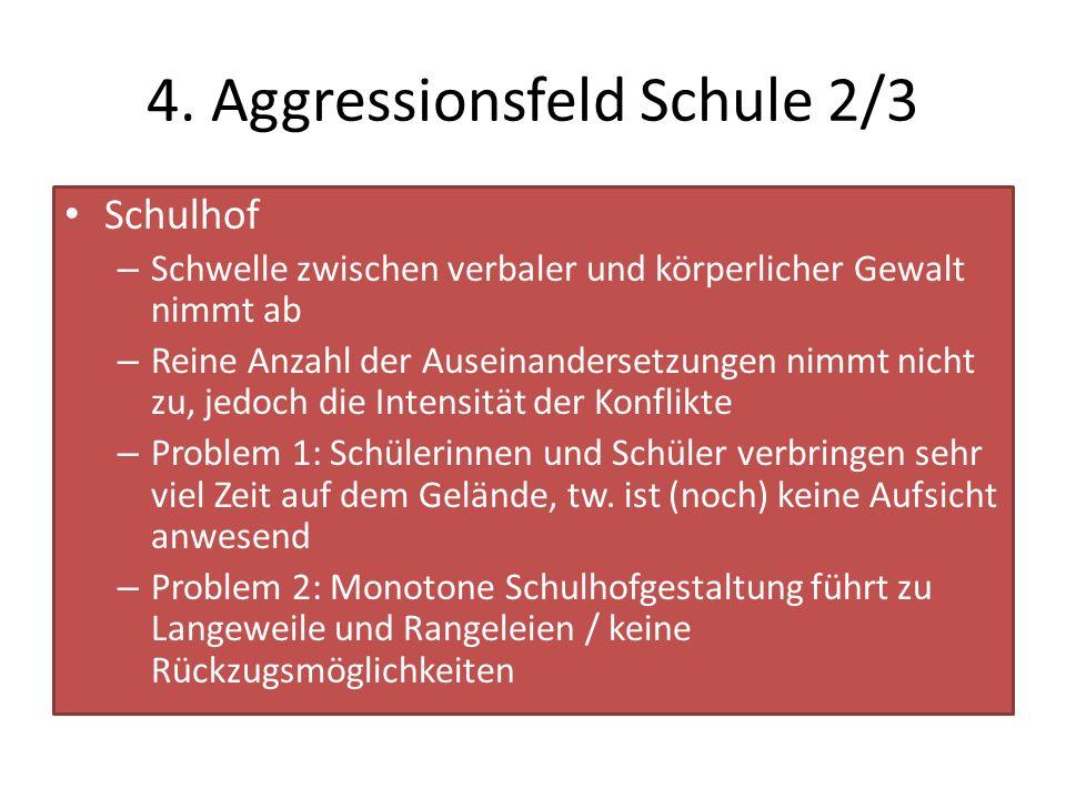 4. Aggressionsfeld Schule 2/3