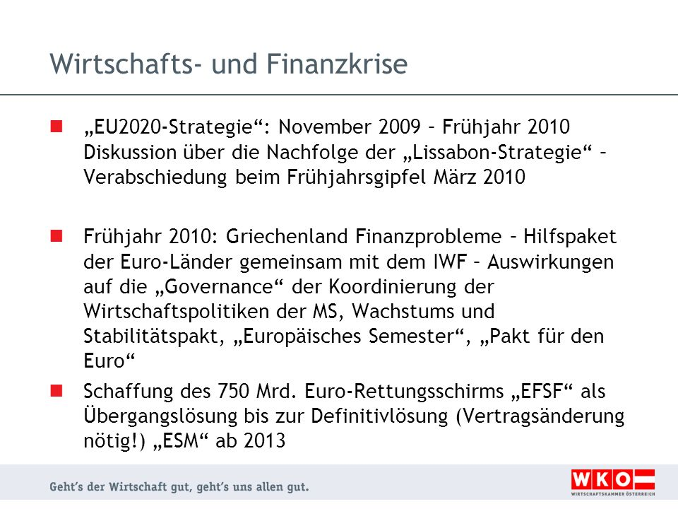 Wirtschafts- und Finanzkrise