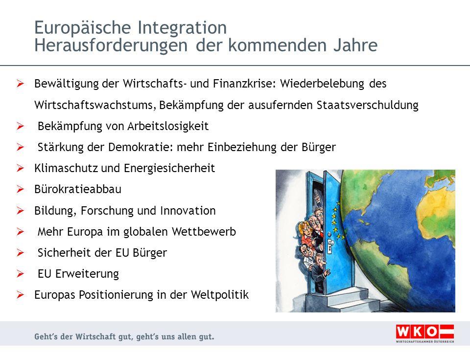 Europäische Integration Herausforderungen der kommenden Jahre