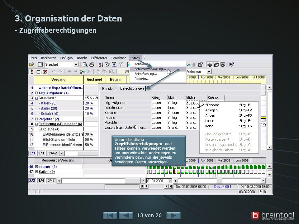 3. Organisation der Daten - Zugriffsberechtigungen