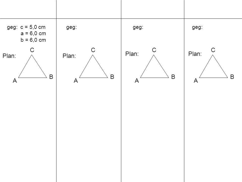 A B C A B C A B C A B C Plan: Plan: Plan: Plan: