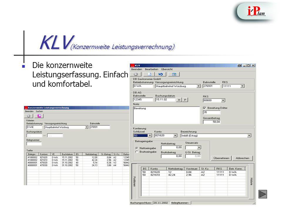 KLV(Konzernweite Leistungsverrechnung)