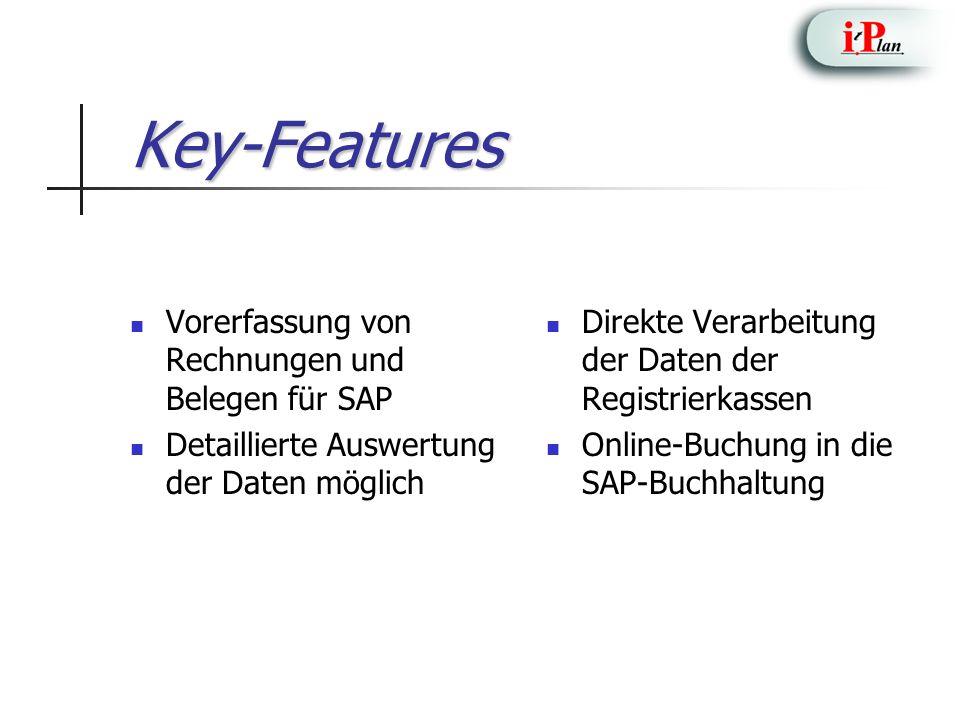 Key-Features Vorerfassung von Rechnungen und Belegen für SAP