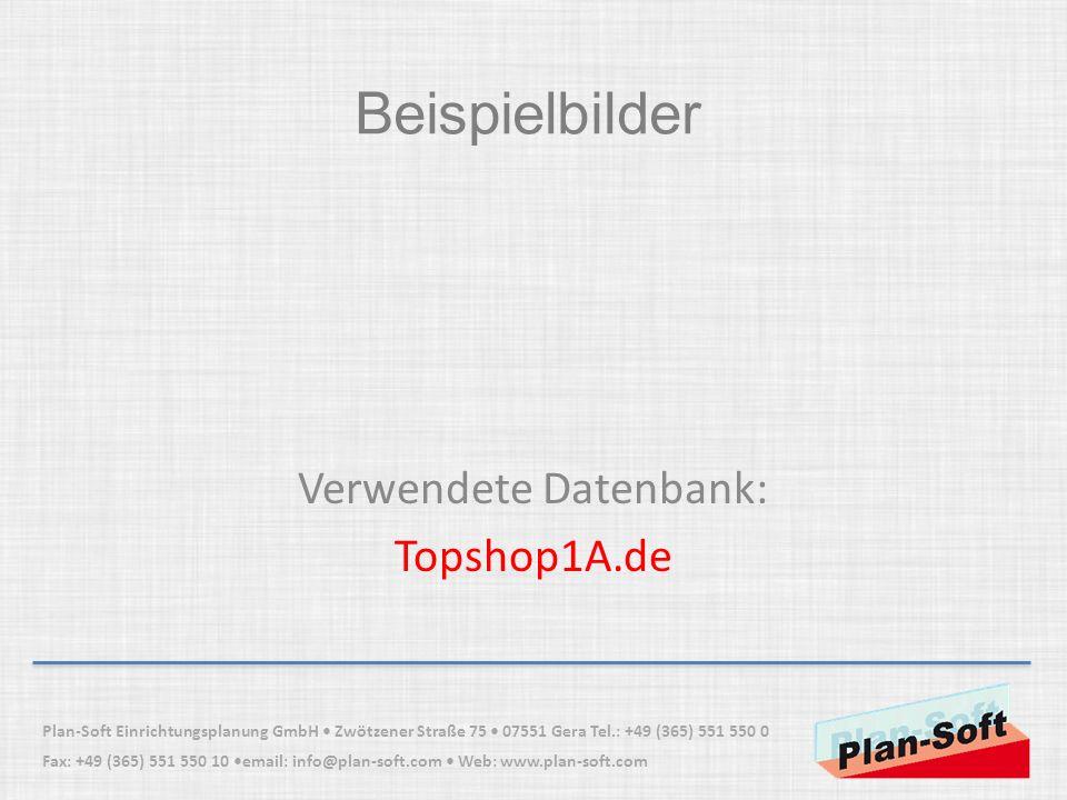 Verwendete Datenbank: Topshop1A.de