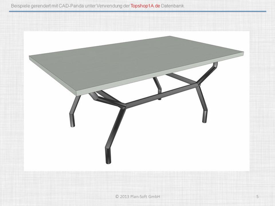Beispiele gerendert mit CAD-Panda unter Verwendung der Topshop1A