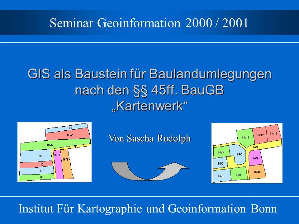 Seminar Geoinformation 2000 / 2001