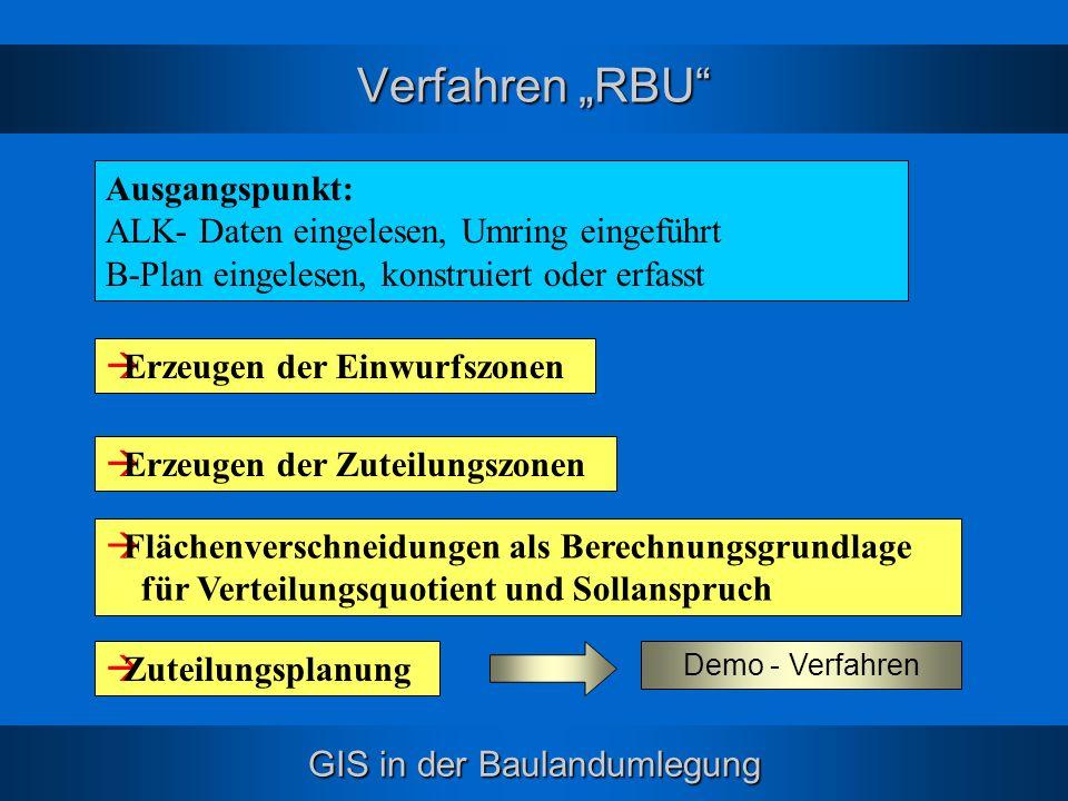 """Verfahren """"RBU Ausgangspunkt:"""