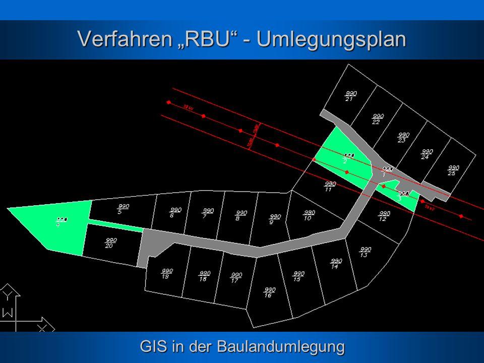 """Verfahren """"RBU - Umlegungsplan"""